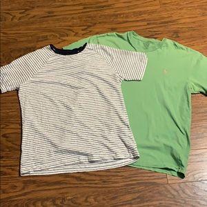 Ralph Lauren green v-neck t-shirt bundle. Small